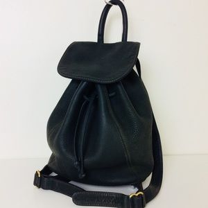 Coach Vtg Green Nubuck Leather Backpack ITALY